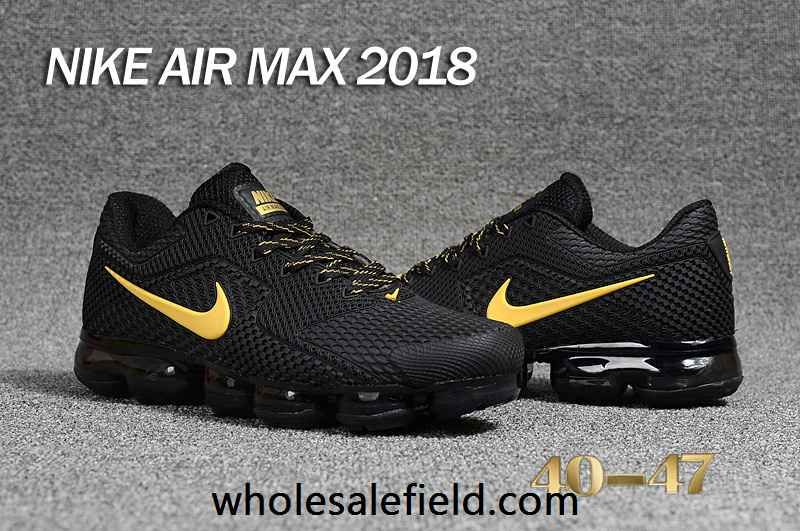 d2aa38adabdb3 New Nike Air Max 2018 KPU Black Gold Men Shoes