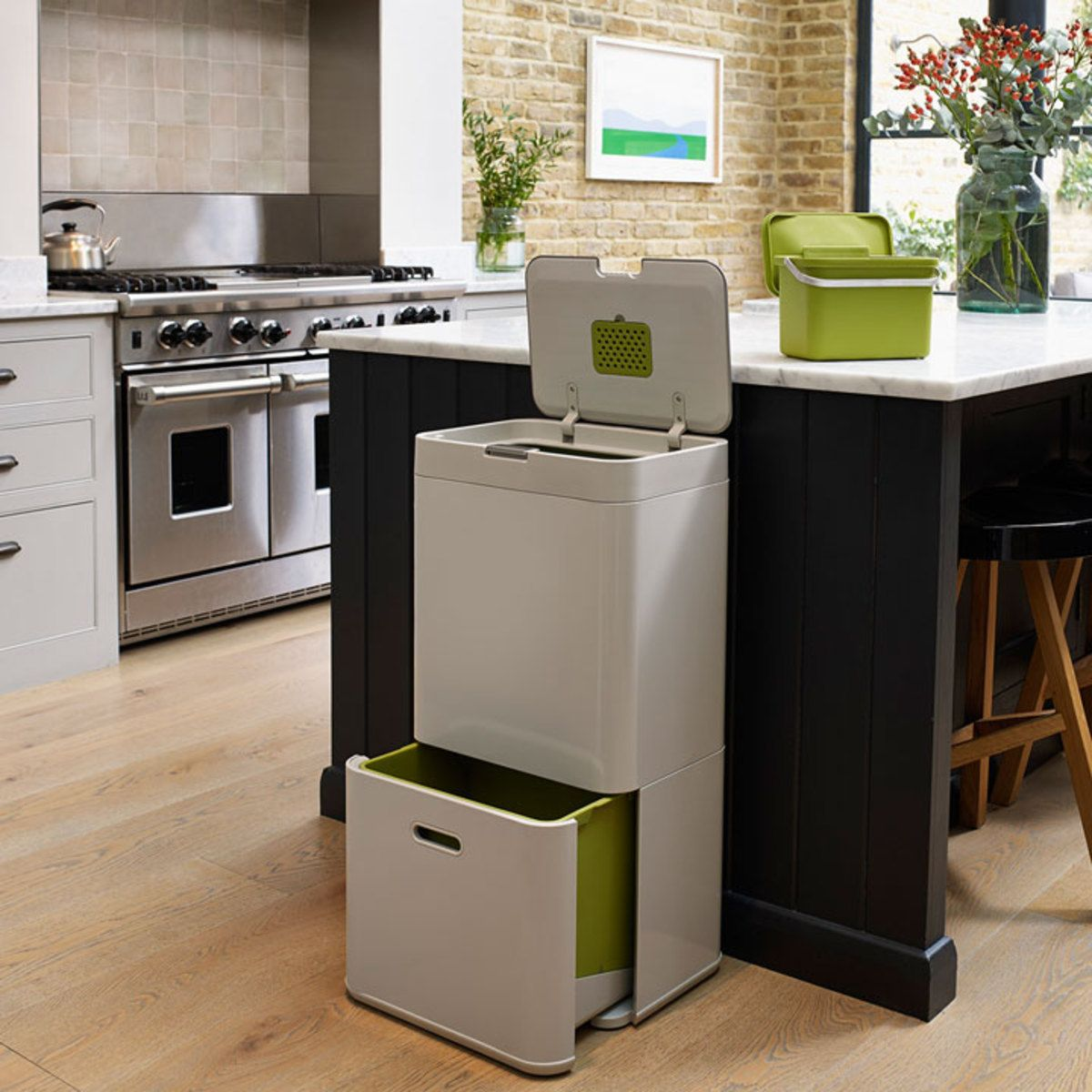 Poubelle Totem 60 Litres Pierre 30001 Achat Trash Can Kitchen Bin Recycling