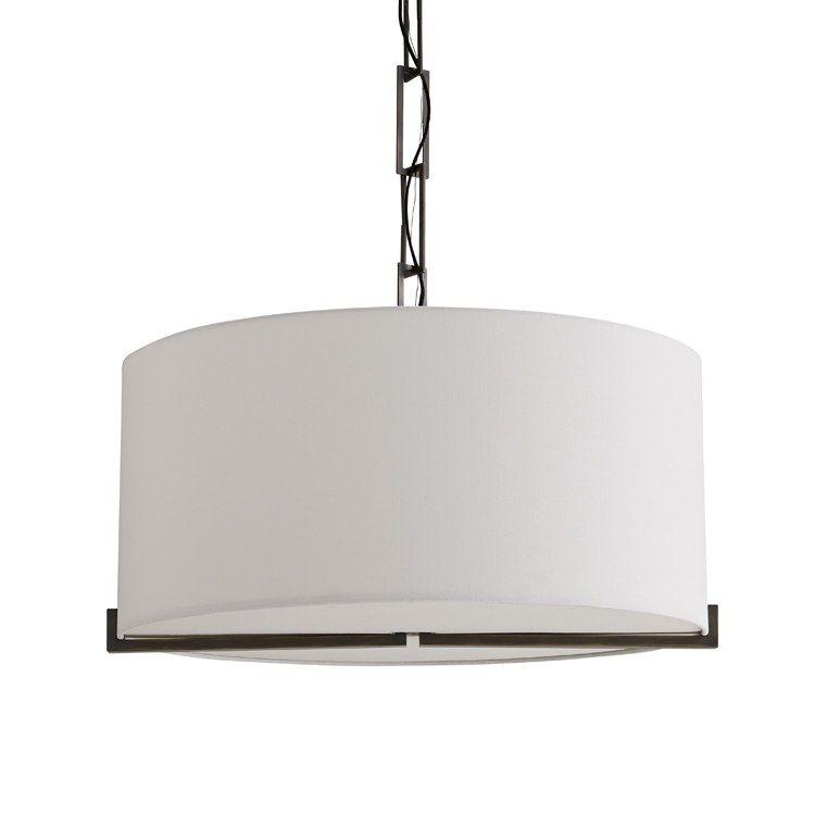 Pendant Versa 4 Lamp Aged Bonze or Shade White Linen UL/cUL A19 60 Watt