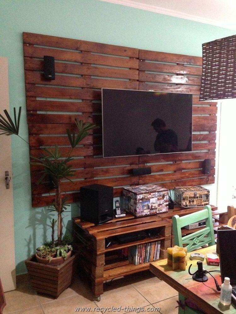 Prodigious Ideas Of Pallet Recycling Meuble Tv Palette Meuble Tele En Palette Et Meuble