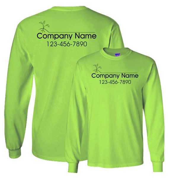 Landscaping Company Work Shirt Custom