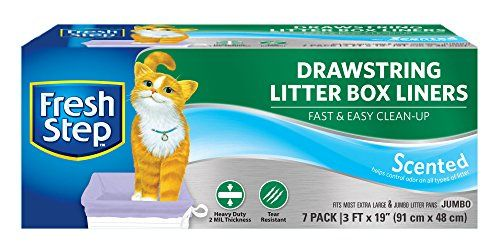 Fresh Step Drawstring Scented Litter Box  Jumbo ** Check out the image by visiting the link.