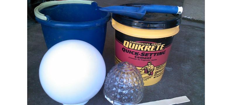 DIY Cement Garden Globes