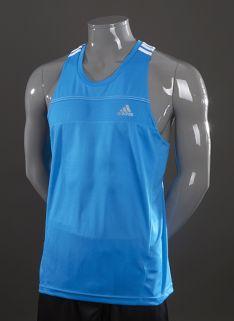 c175c013129c adidas Response Singlet - Mens Running Clothing - Solar Blue-White ...