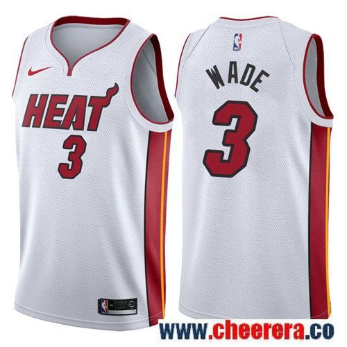 Nike Miami Heat  3 Dwyane Wade White NBA Swingman Association Edition Jersey 411b7f8b3