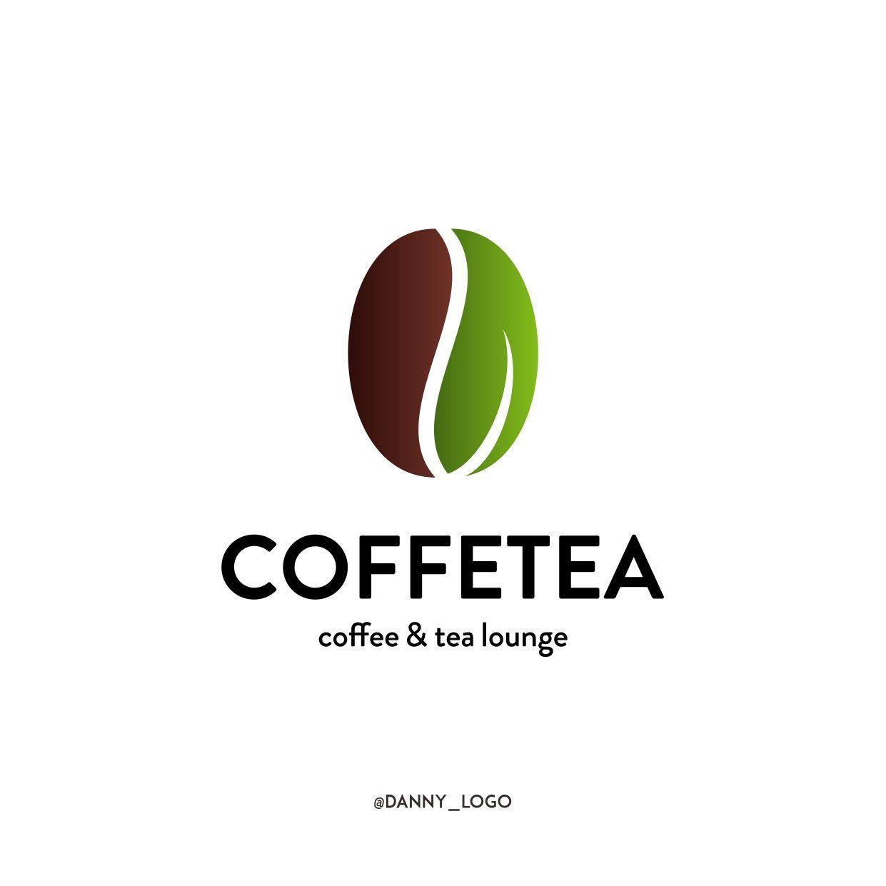 Coffee Tea Logo Tea Logo Coffee Bean Logo Coffee Logo