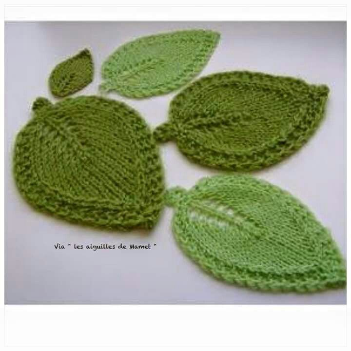 Point de feuille photo | FLOWERS | Pinterest | Knitted flowers ...
