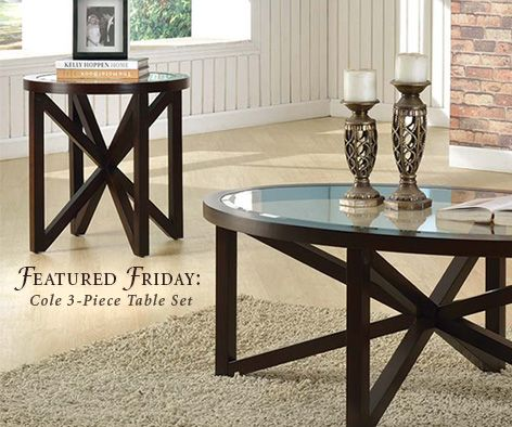 Check out the starburst design on the Cole 3Piece Table Set