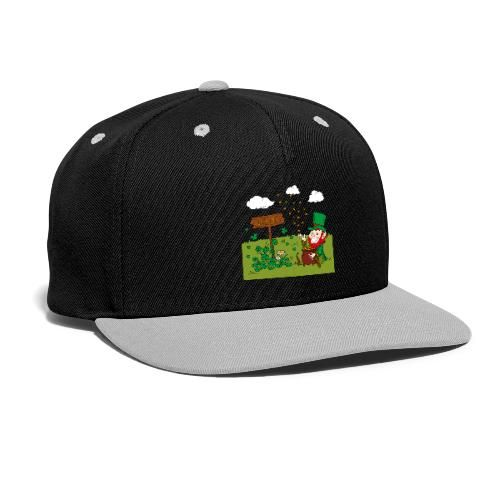 948567b893f2d leprechaun happy st patricks day 10 - Snap-back Baseball Cap  charms  clover