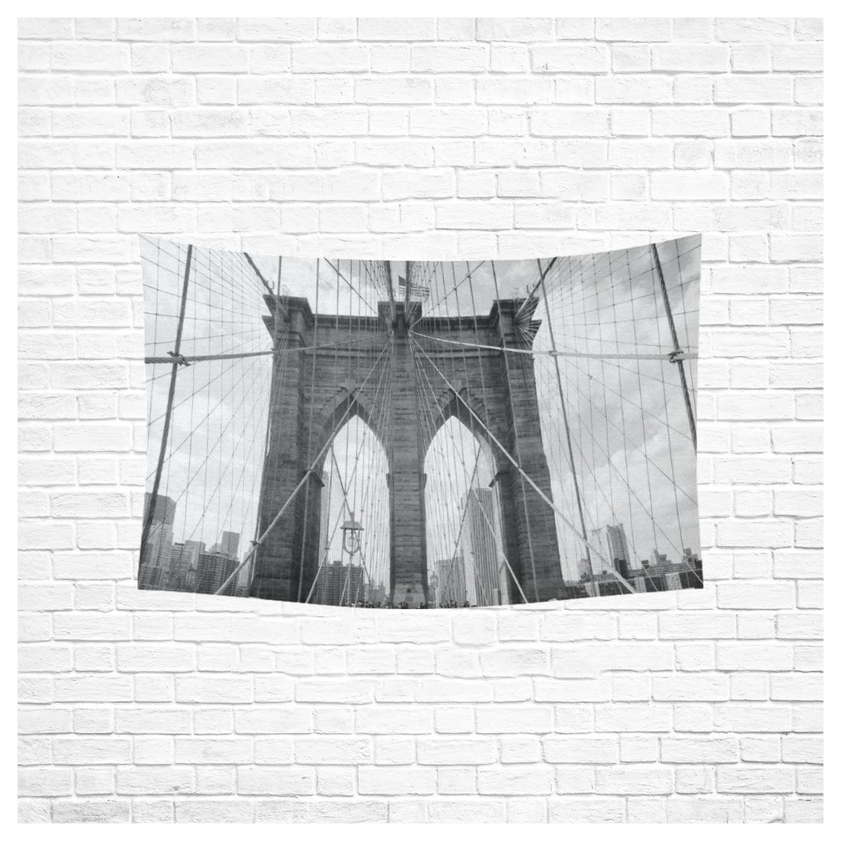 Interestprint New York City Wall Art Home Decor Brooklyn Bridge Black And White Tapestry Wall Hanging Art Sets 60 X 40 Inches Want Add Tapestries Tapes