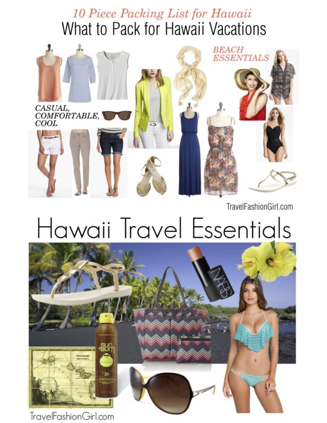 what to pack for hawaii: packing list for vacation | travel outfits