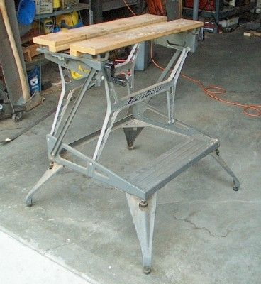 Support Bench Tools On A Workmate Used Woodworking Tools Woodworking Power Tools Woodworking Workbench