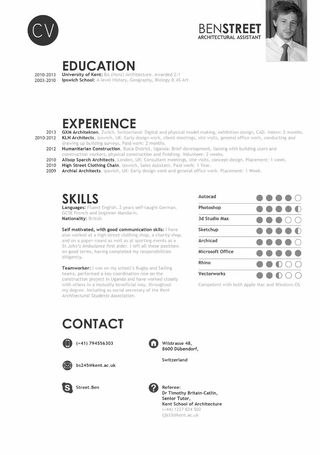 Ben Street Architecture Portfolio   Print Media   Pinterest   Lebenslauf