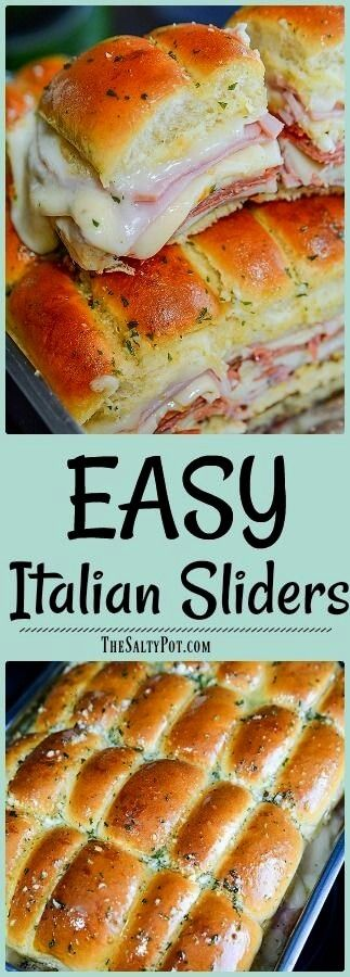 Photo of #italian #simple #slider #recipe #super #crowd