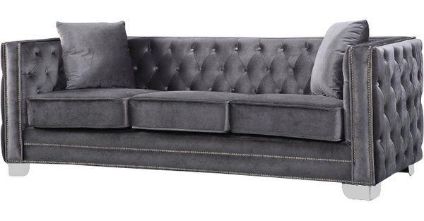 """Cobbett 86"""" Velvet Sofa"""