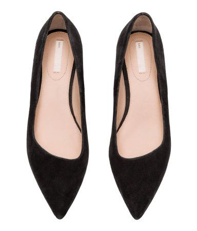 0c0448834e5 Suede Block-heeled Pumps | Black | Women | H&M US | Oh! So MY STYLE ...