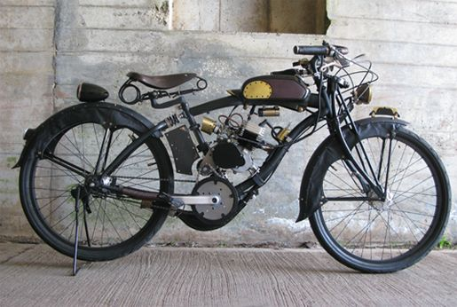 This Motorized Bicycle Is A Real Stunner That Was Created