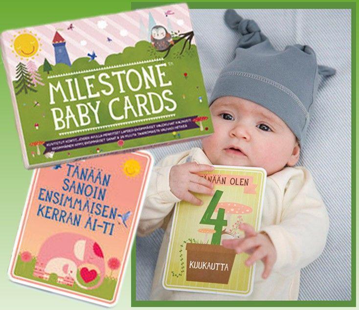 Milestone Baby Cards, suomenkielinen - Baby Style