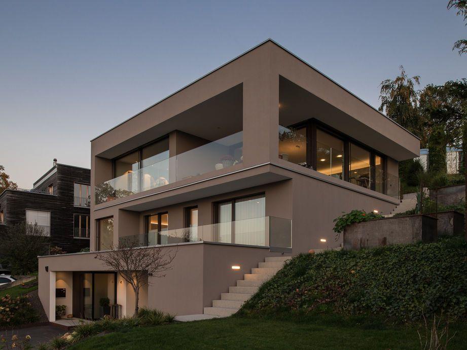 Hanghäuser Modern einfamilienhaus hanghaus modern edelstahlpool luxushaus mit
