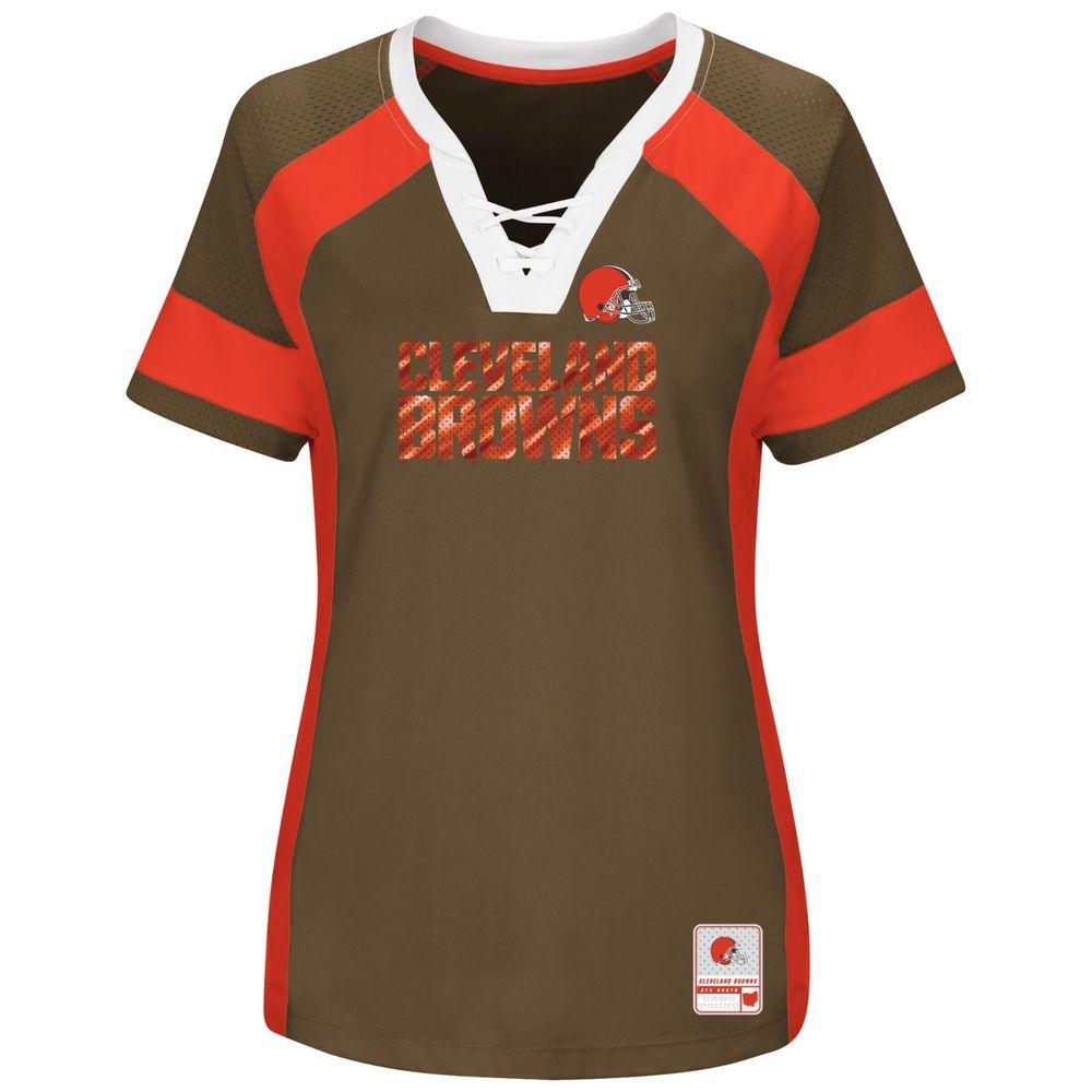 Cleveland Browns Womens Majestic Draft Me Top MSRP 55
