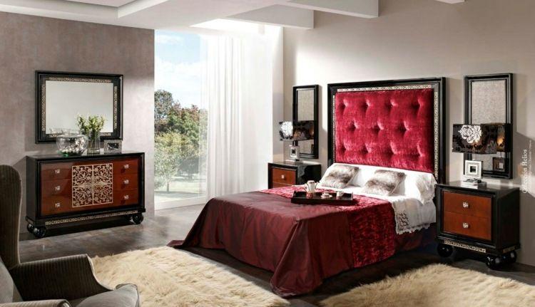 Couleur pour chambre moderne murs gris taupe sol gris anthracite t te de lit capitonn en - Chambre beige et taupe ...