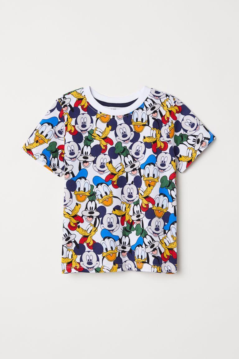 Camiseta con estampado BlancoDisney NIÑOS   H&M ES