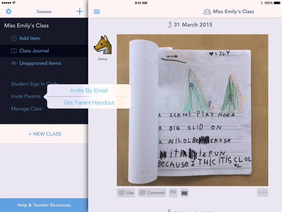 Seesaw How to Invite Parents 5 Seesaw, Seesaw app