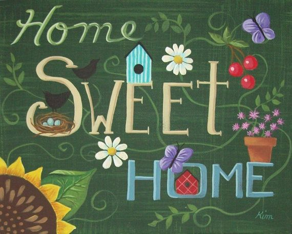 Home Sweet Home ... KimsCottageArt,