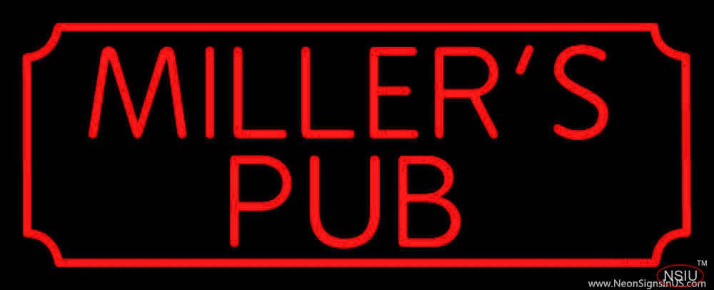 Millers Pub Bar Real Neon Glass Tube Neon Sign,Affordable