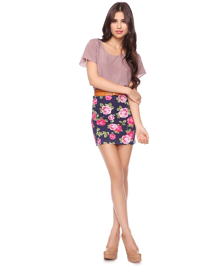 Floral Bodycon Skirt  $7.80