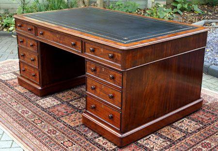 Antique Victorian Mahogany Partners Desk - Antique Victorian Mahogany Partners Desk Gothic And Victorian