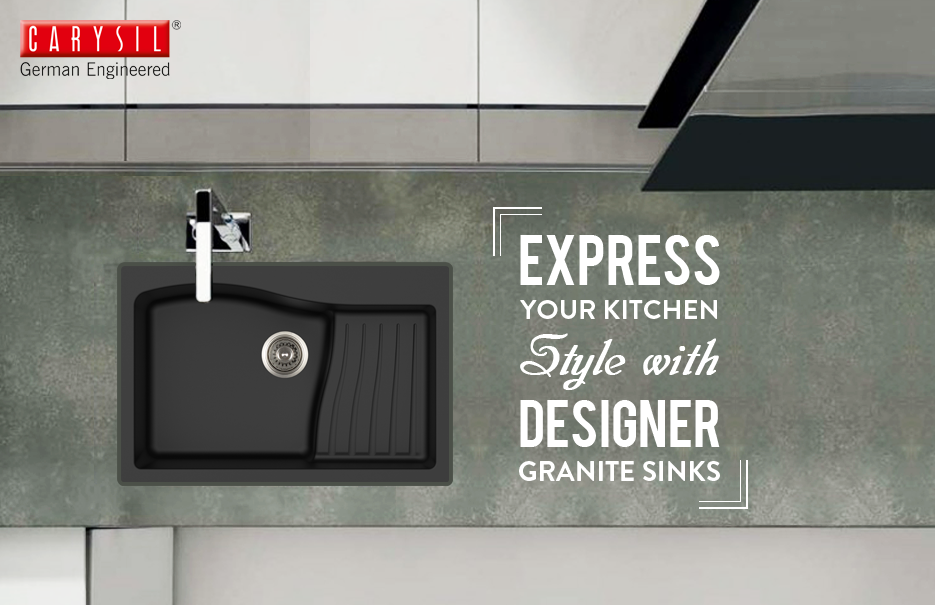 Try designer Granite Sinks by Carysil. #CarysilKitchen