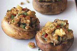 Stuffed Mushrooms Recipe 2 Cups Stove Top Stuffing Mix For Chicken In The Canister 1 Cup Hot