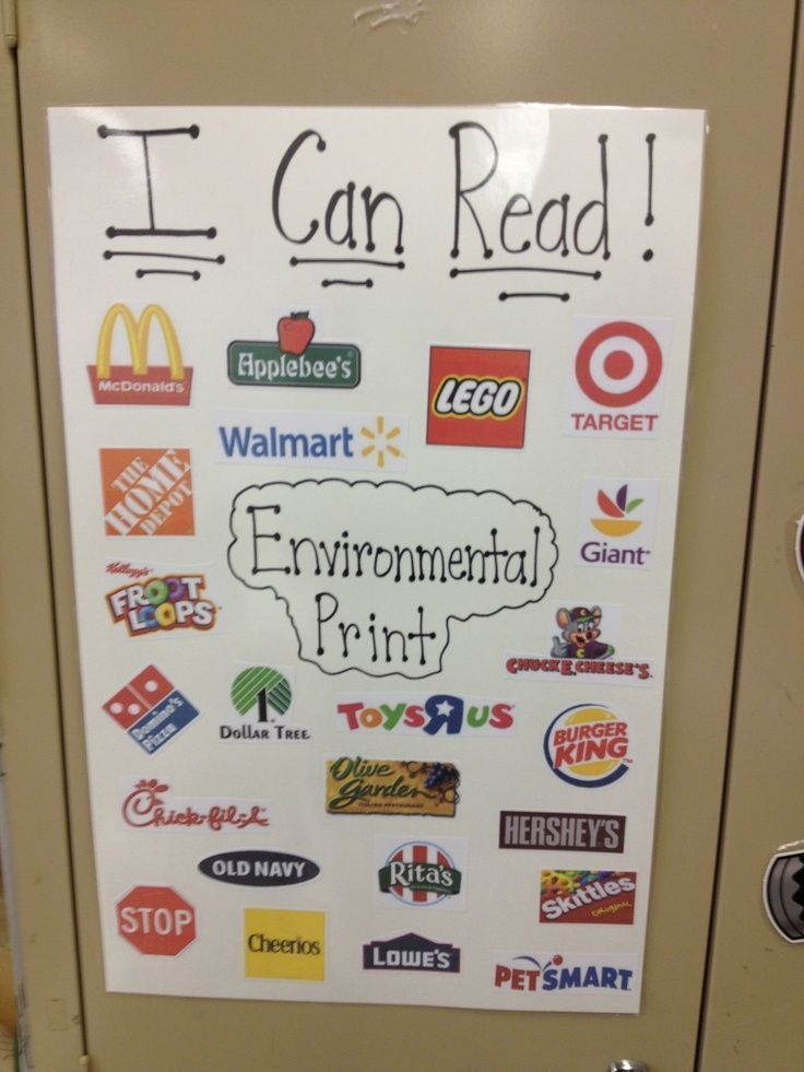 Environmental print anchor chart great way to encourage early readers look how many words you already know read also rh pinterest
