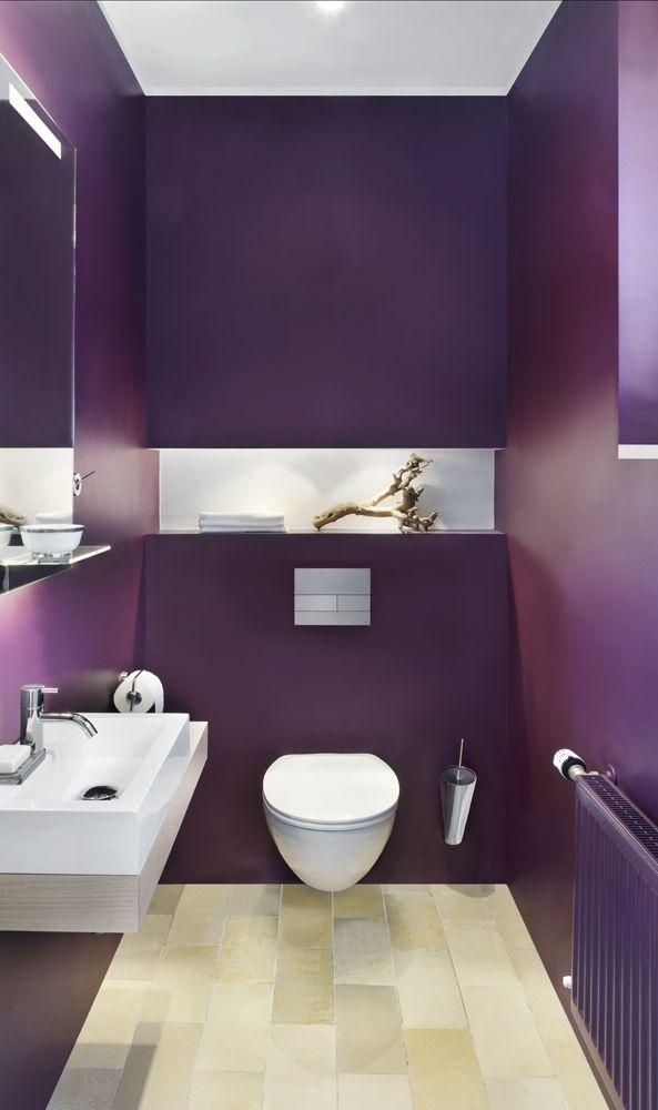 Color-Blocking im Gäste-WC mit unserem Spiegel Scala mit ...