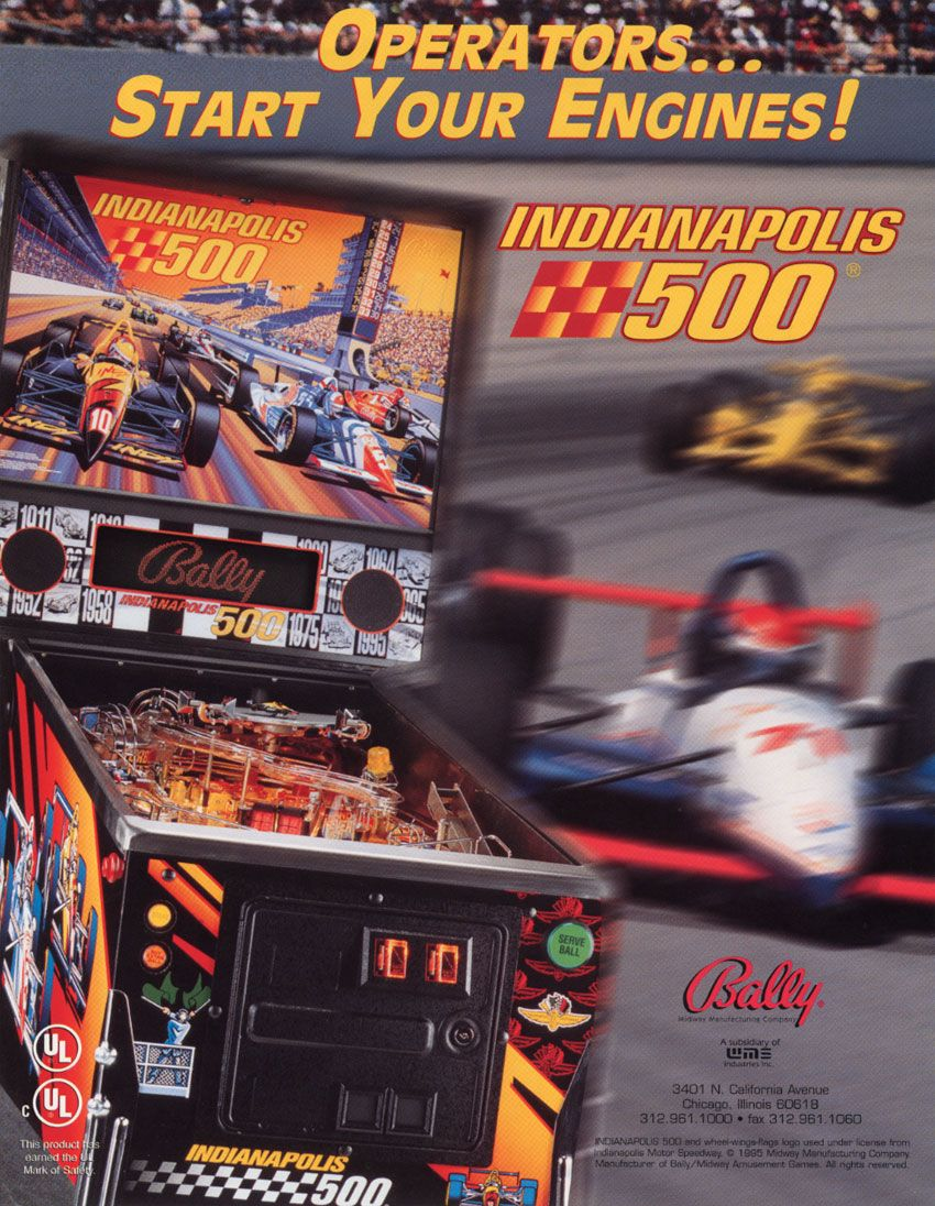 Indianapolis 500 (1995 Bally/Midway) Played 16/1/15 at