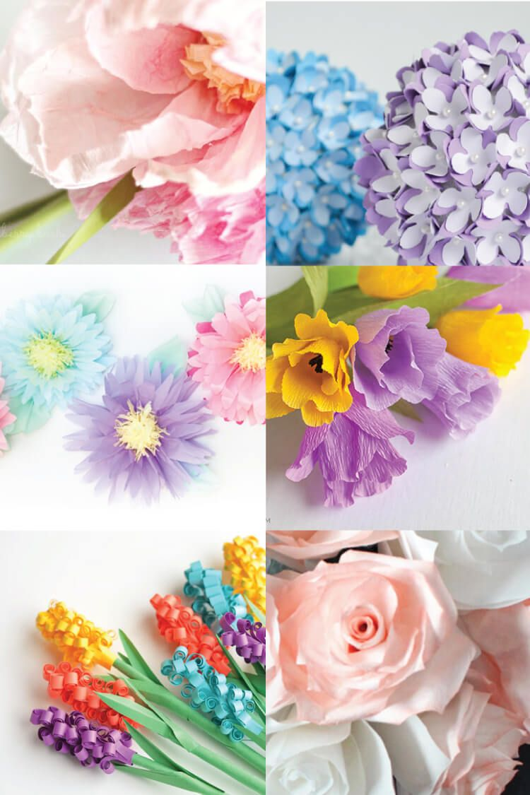 How To Make Tissue Paper Flowers Four Ways Paper Flowers