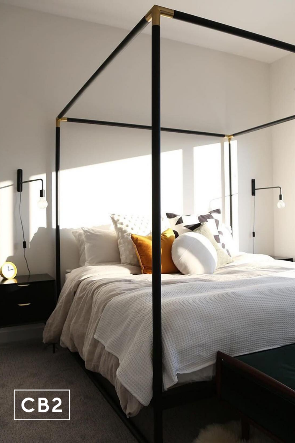 - Frame Black Metal Canopy Bed In 2020 Black Canopy Beds, Metal