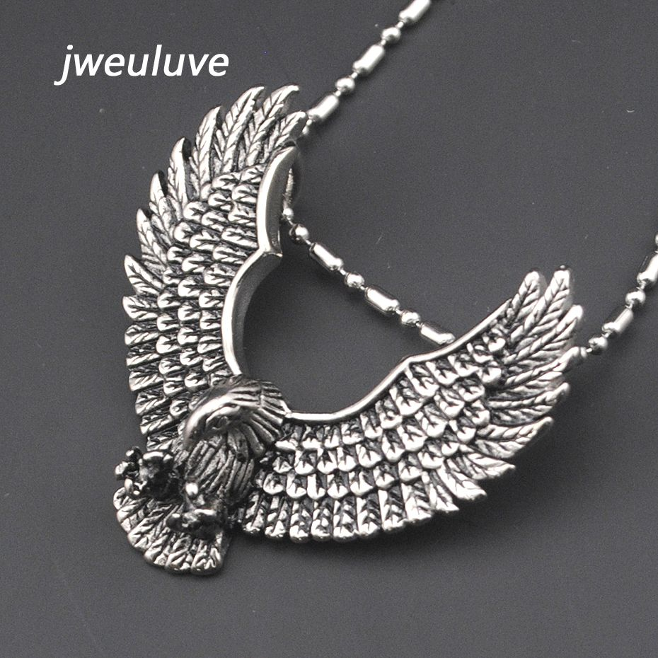 316l stainless steel eagle pendant necklace anime animals biker jewellery mens fashion jewelry 2016 free