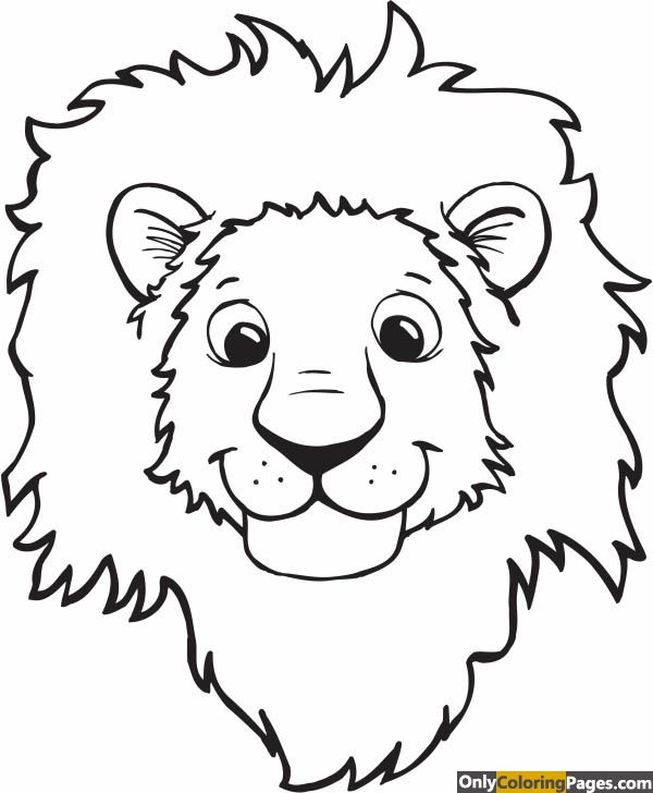 Lion Head Coloring Page : coloring, Coloring, Pages