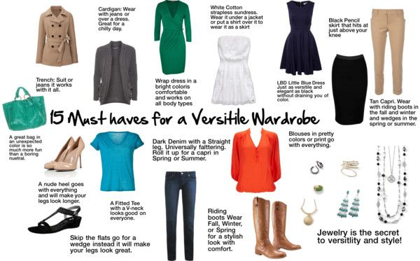 """""""15 must haves for a versitile wardrobe"""" by shine2day on Polyvore"""