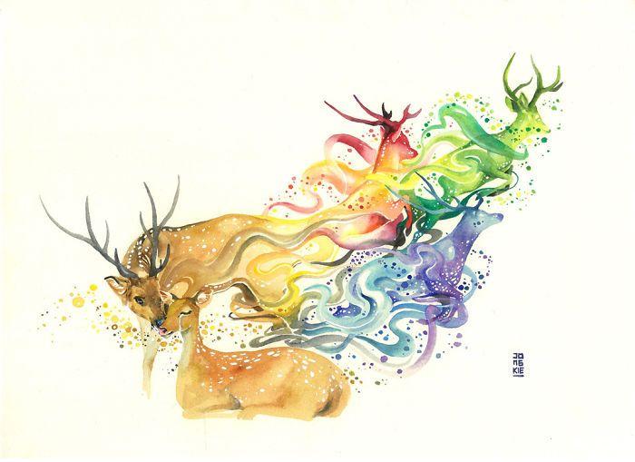 Magic And Positive Watercolors By Luqman Reza Illustration D
