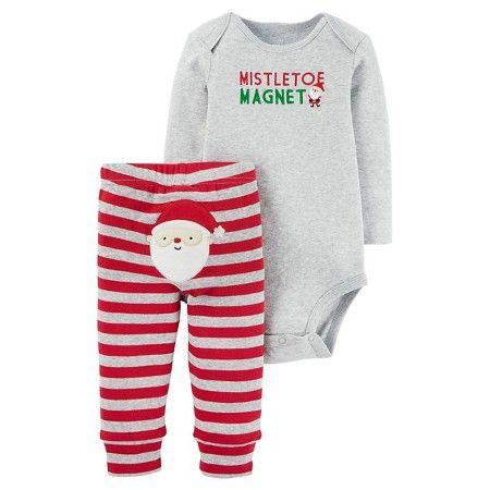 541c897f4 Baby Boys  Mistletoe Magnet 2 Piece Pant Set Gray - Just One You ...