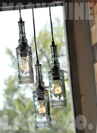 The parisian old fashioned recycled bottle chandelier made with the parisian old fashioned recycled bottle chandelier made with antique glass bottles aloadofball Gallery