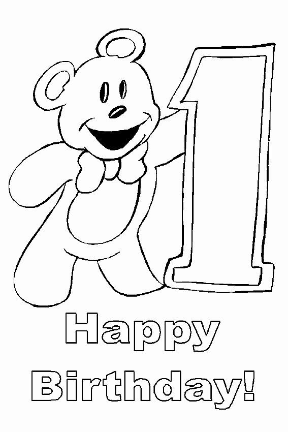 Happy Birthday Coloring Page Lovely Happy Birthday ...