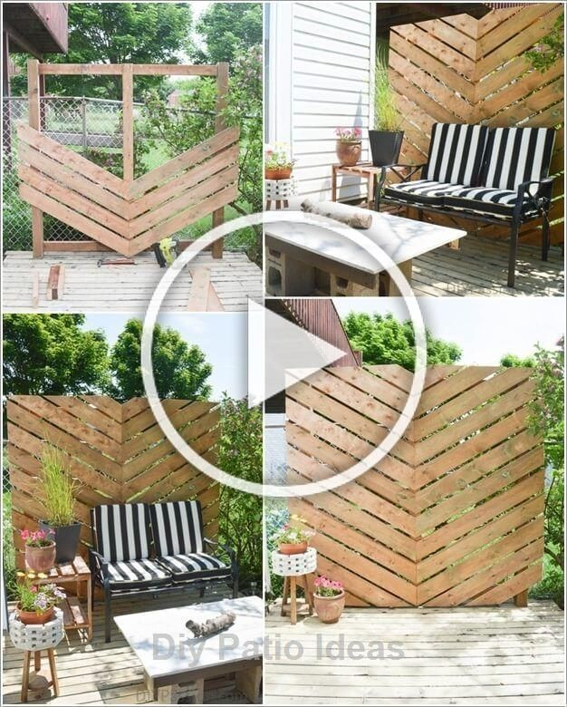 If You Are Planning To Build A Patio In Your Home You Need To Assemble The Patio From The Already Used Street Diy Patio Resin Patio Furniture Diy Garden Decor