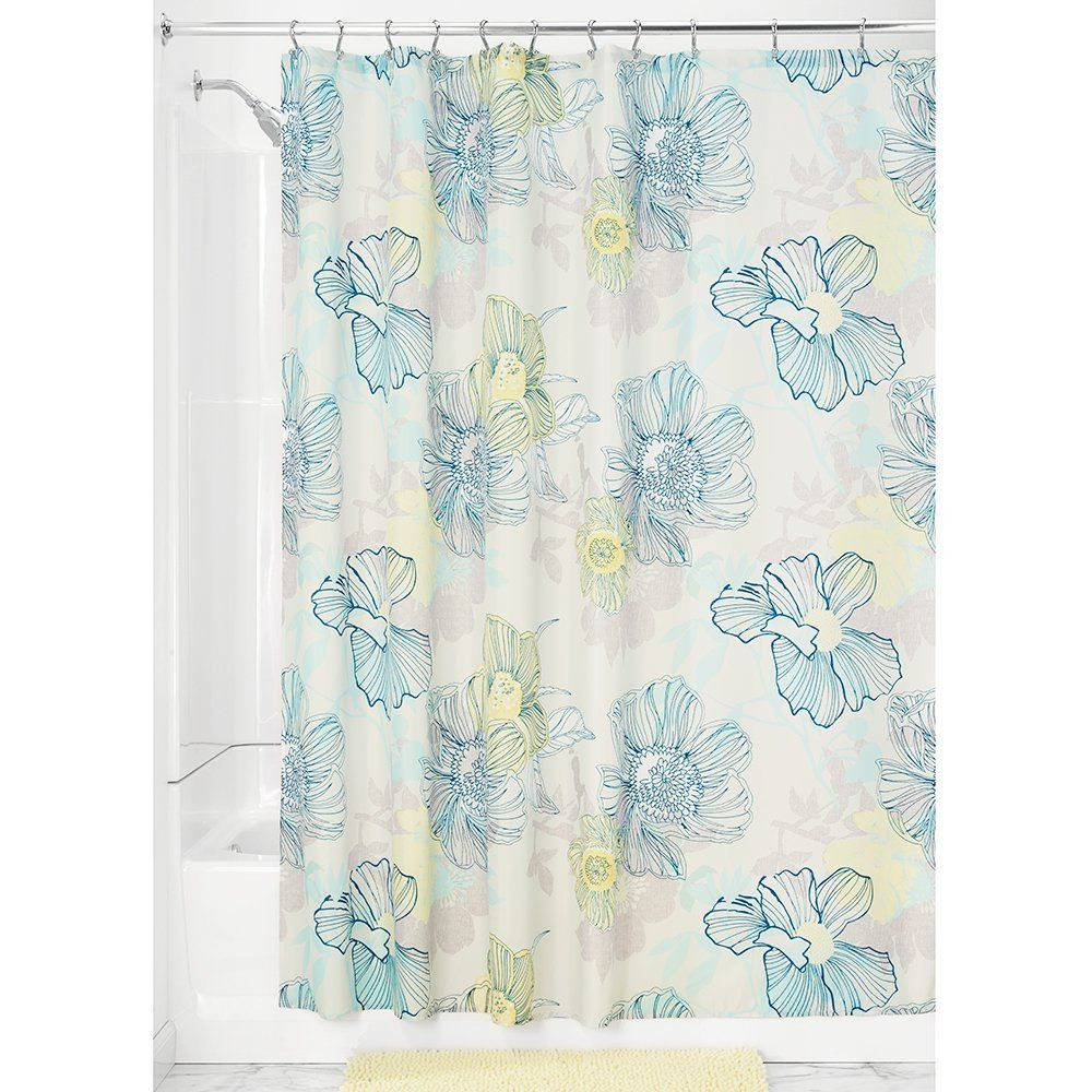 Interdesign 183 X 183 Cm Elsa Shower Curtain Coral Kitchen Home Shower