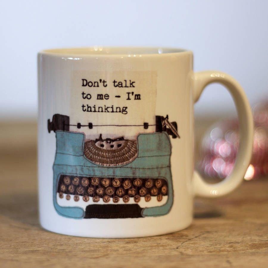 7f947d2d634 Personalised Typewriter Mug | Books | Mugs, Typewriter, Mug designs
