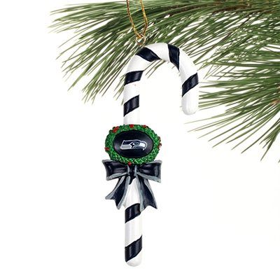Seattle Seahawks Candy Cane Ornament
