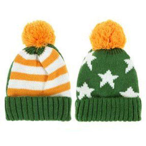 0725ba63738 LOCOMO Men Women Boy Girl US American Country Flag Patriotic Knit Beanie  Crochet Rib Pom Pom